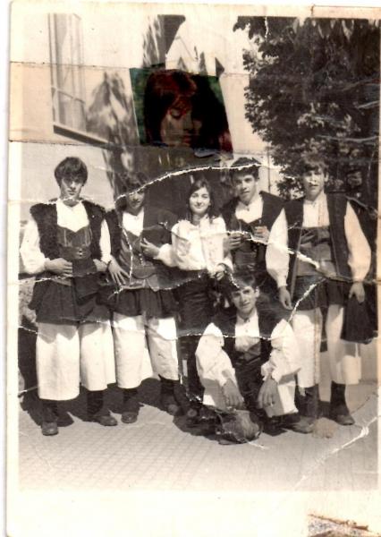 Ollolai. Gruppo alla cavalcata. anni '60.