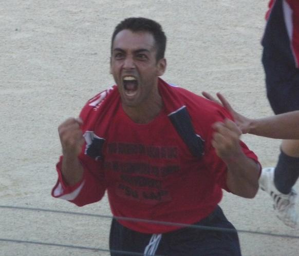 Giovanni Cadau, autore del terzo gol del Fonni. Qui quando militava nel Taloro.