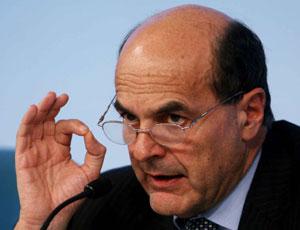Pierluigi Bersani, segretario del Pd