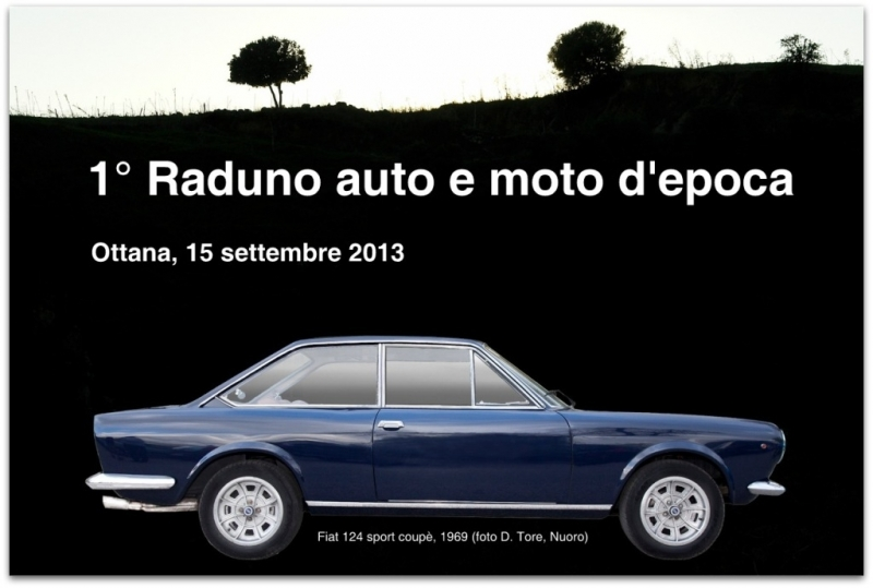 Un'auto storica: Fiat 124 Sport Coupè del 1969 (foto D. Tore, Nuoro)