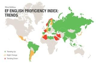 Cartina Italia In Inglese.Italia Ultima In Europa Per La Conoscenza Della Lingua Inglese