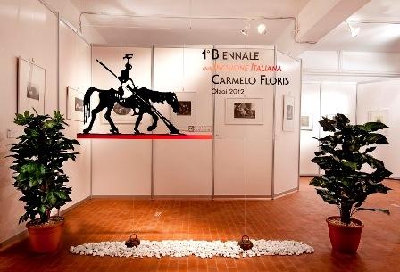 Ingresso mostra biennale Olzai (F. D. Tore)