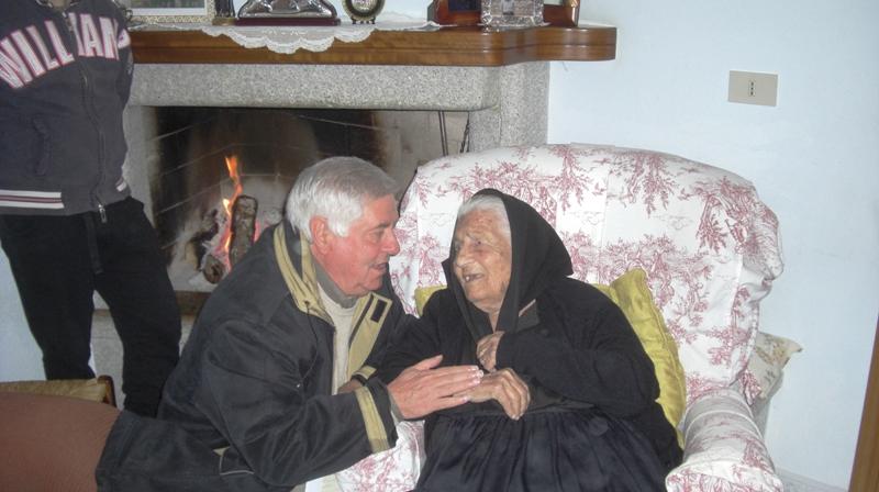 Filomena Murgia con il professore Deiana