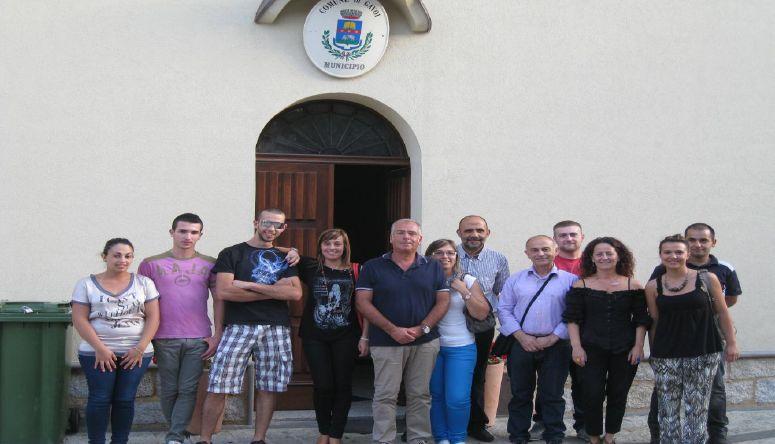 Il gruppo partecipante con i sindaci
