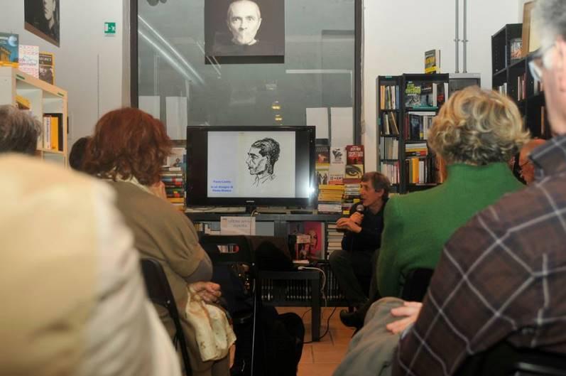 Angelino Mereu durante la presentazione del libro a Firenze (F. Marco Merciai)