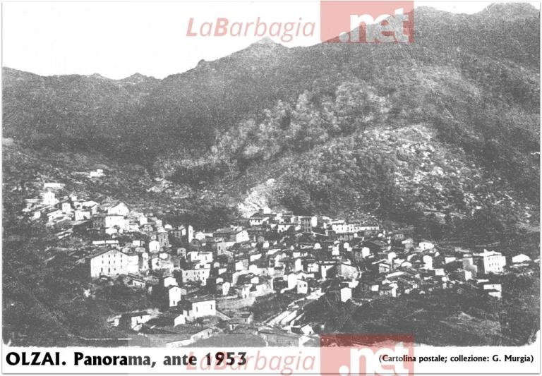 OLZAI. Panorama, ante 1953 (cartolina postale; collezione: G. Murgia)