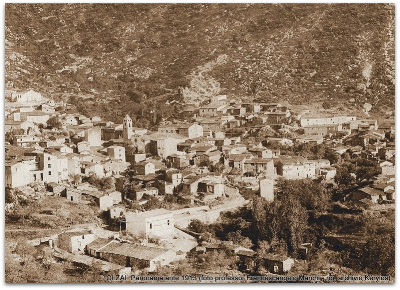 OLZAI. Panorama ante 1913 (foto prof. F. A. Marchi)
