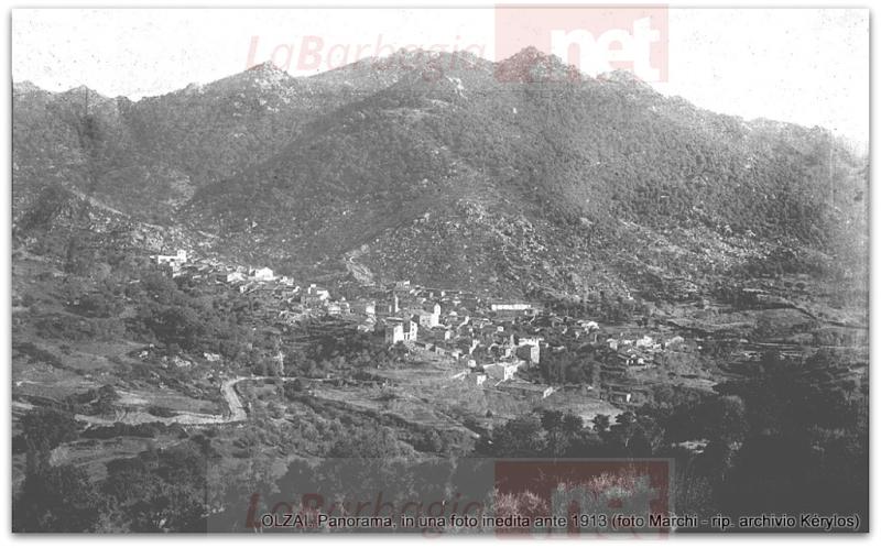 OLZAI. Panorama, in una foto inedita ante 1913 (foto Marchi - archivio Kérylos)