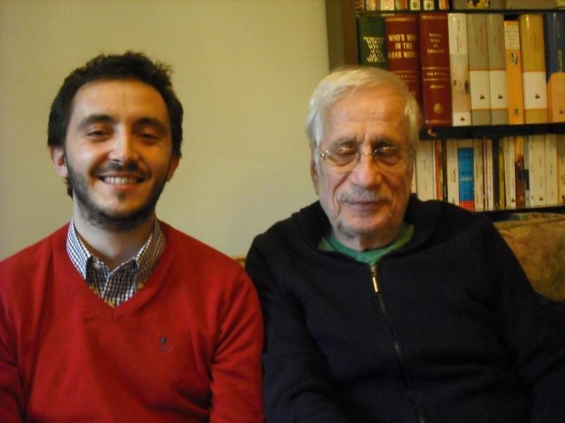 Alessandro Columbu con Zakaria Tamer