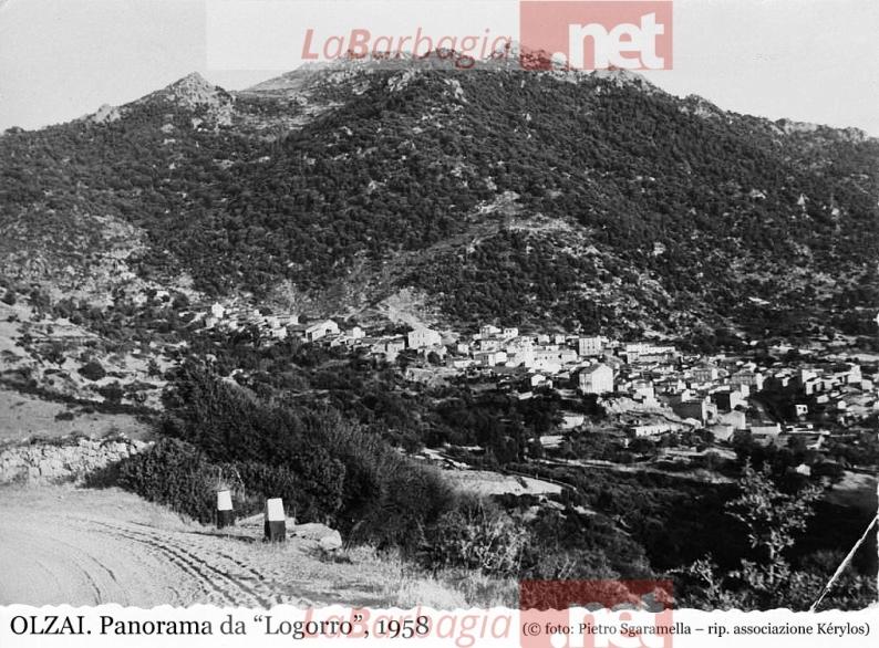 ": OLZAI. Panorama da ""Logorro"", 1958 (©foto P. Sgaramella; rip. as. Kérylos)"