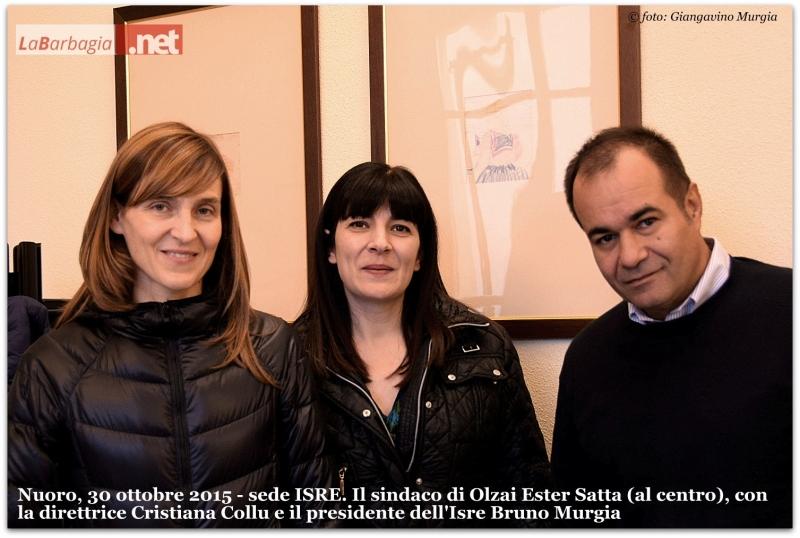 Cristiana Collu, Ester Satta e Bruno Murgia.