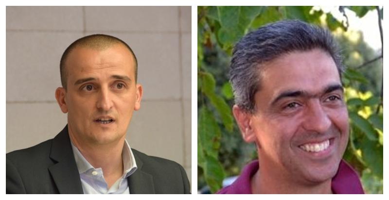 Efisio Arbau, sindaco di Ollolai e Enrico Murgia, sindaco di Seulo