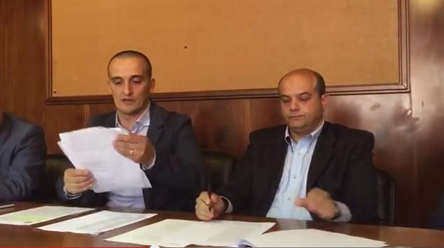 Efisio Arbau, sindaco di Ollolai e Gaetano Ledda, consigliere regionale La Base Sardegna