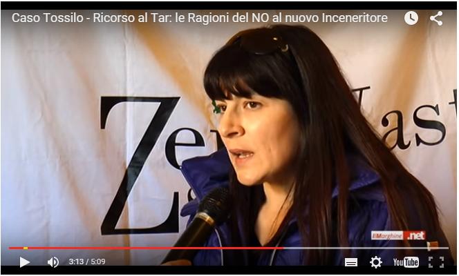 Ester Satta, sindaco di Olzai, durante l'intervista