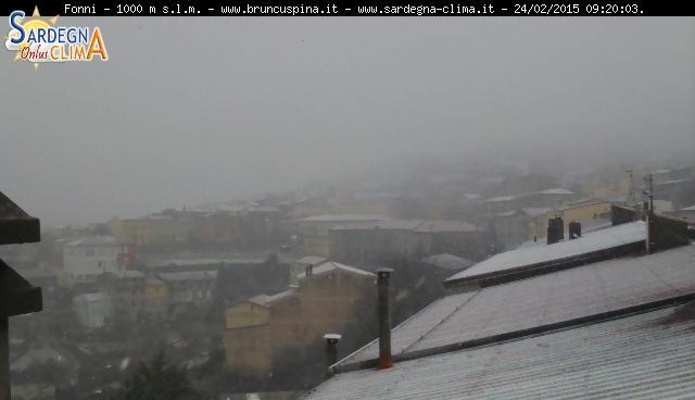 Fonni stamattina (immagine tratta da Sardegna Clima.it)