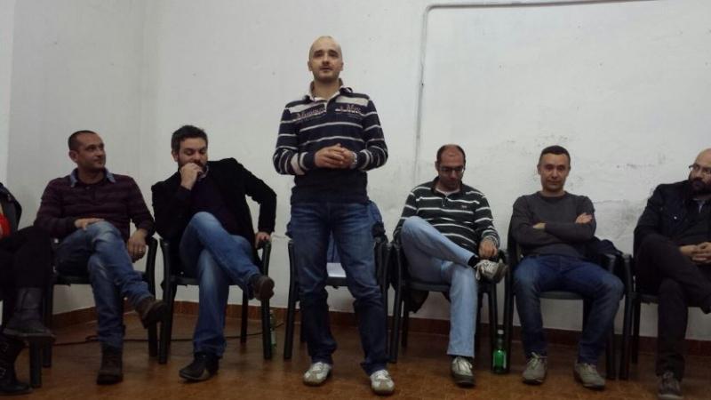 Giovanni Cugusi, sindaco di Gavoi e il suo gruppo politico