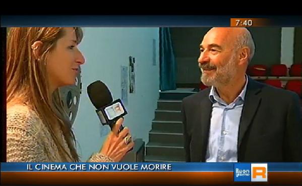 Giorgio Lai mentre viene intervistato dalla giornalista di Buongiorno Regione