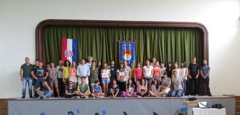 i giovani che hanno partecipato al corso in Croazia
