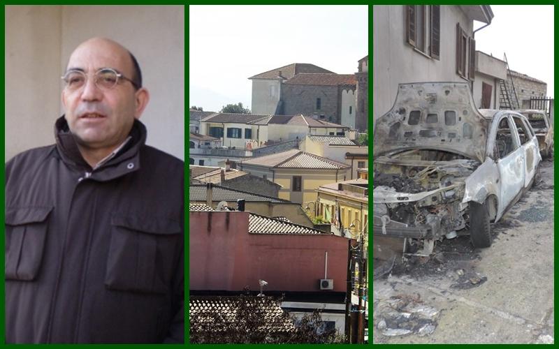 Nannino Marteddu, uno scorcio di Orotelli e le auto date alle fiamme