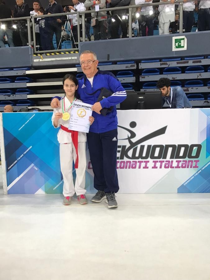 Rachele Amato con il maestro Antonello Arbau