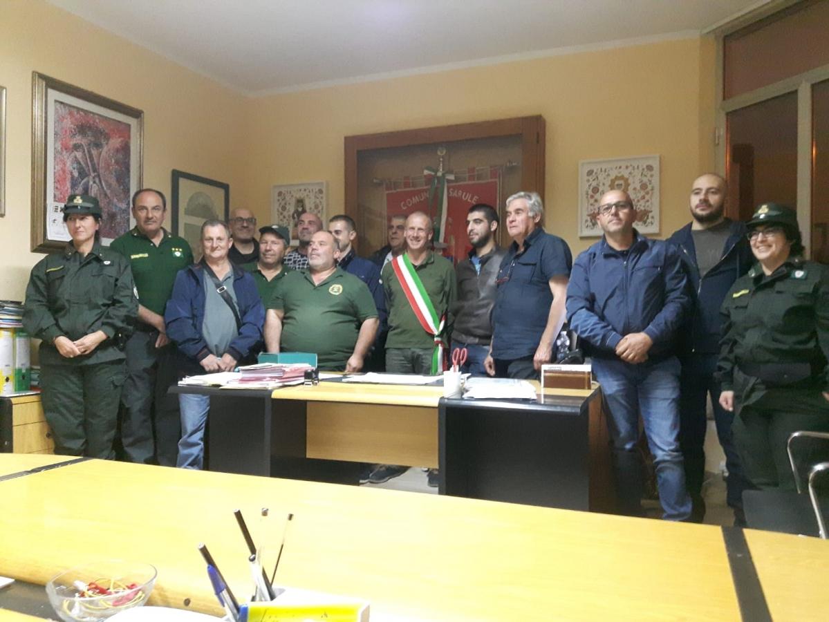 I nuovi componenti con il Capitano e i rappresentanti del Municipio
