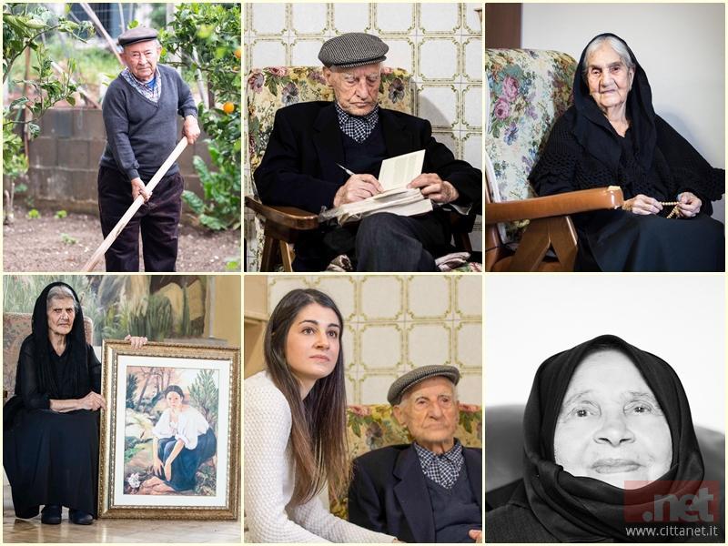 Immagini gentilmente concesse da Laura Mele, al centro con il centenario di Orotelli Gaspare Mele