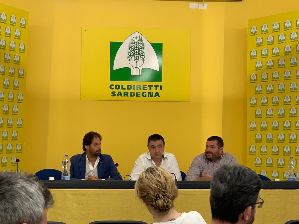 Da sinistra: Vito Savino (Casillo), Battista Cualbu e Luca Saba Coldiretti Sardegna