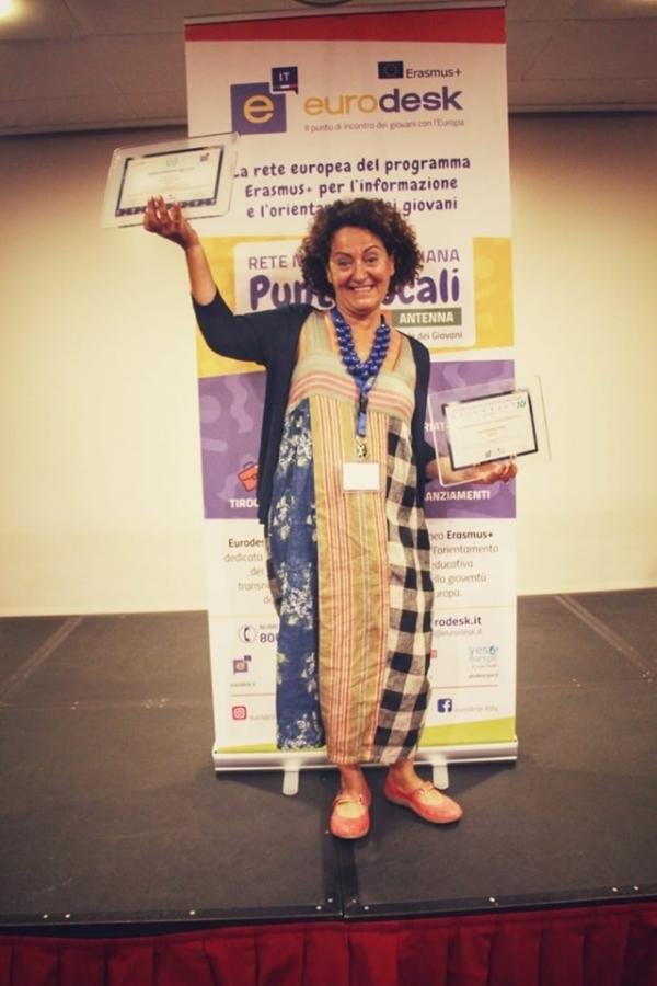 Vicenza. Seminario annuale Eurodesk. Valeria Sanna ritira il premio