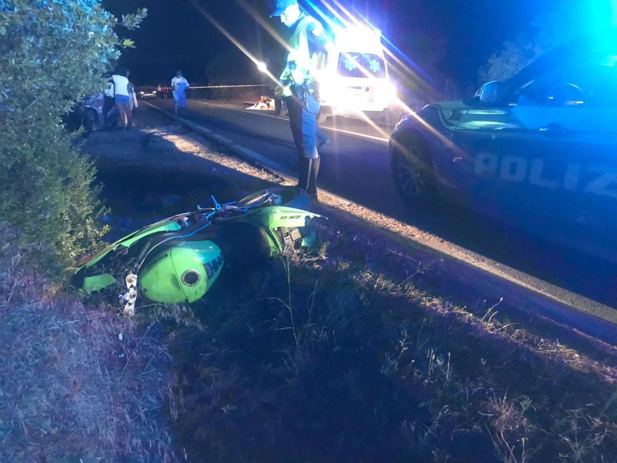 Il luogo dell'incidente in una foto della Polizia stradale