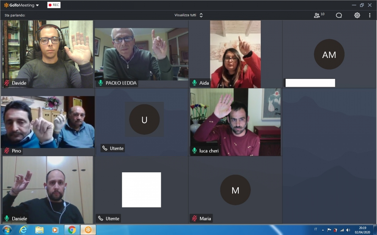 Il Consiglio Comunale di Sarule per la prima volta riunito in video conferenza