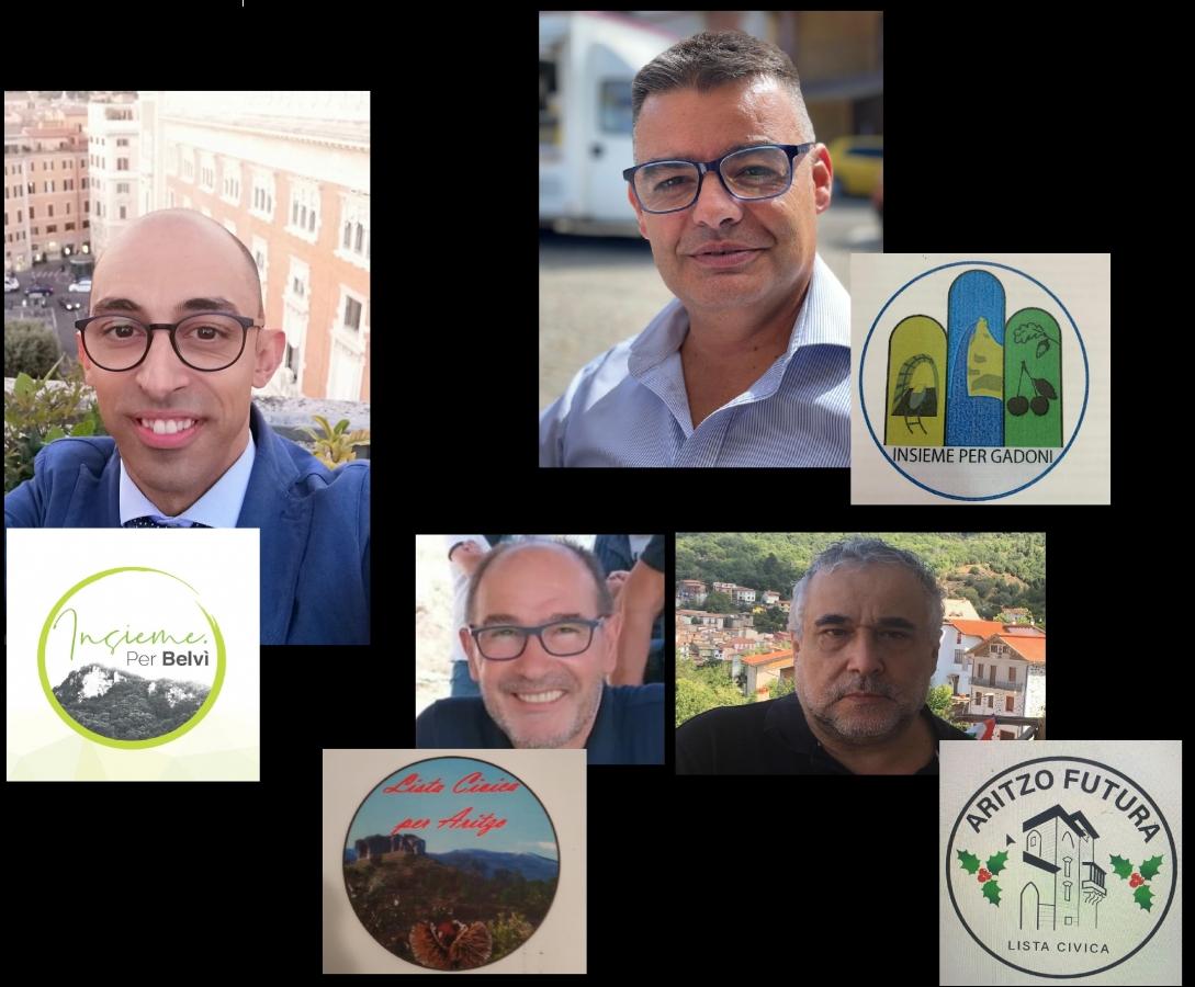 In senso orario da sinistra: Maurizio Cadau (Aritzo), Francesco Peddio (Gadoni), Paolo Fontana e Gualtiero Mameli (Aritzo)
